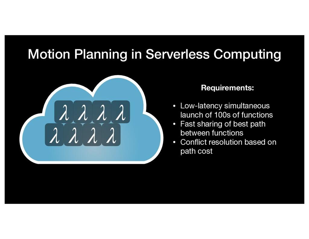 Motion Planning in Serverless Computing λ λ λ λ...