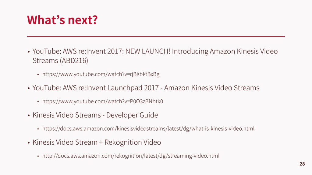 • YouTube: AWS re:Invent 2017: NEW LAUNCH! Intr...
