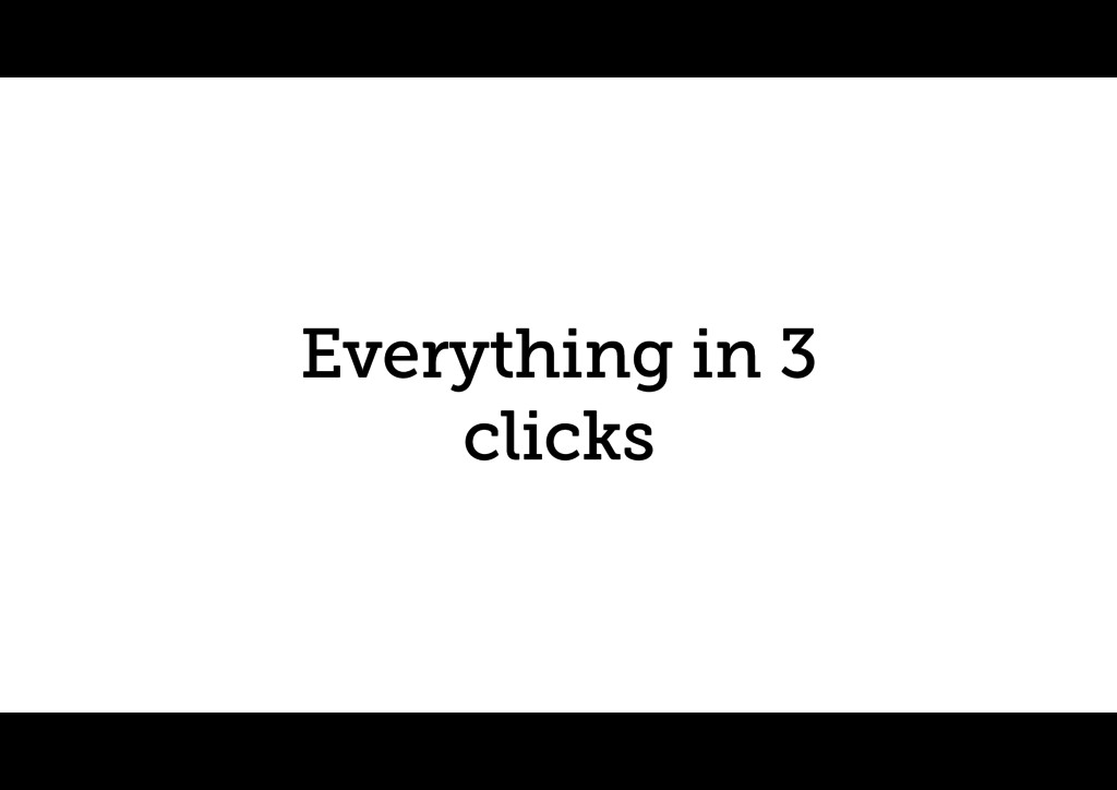 Everything in 3 clicks