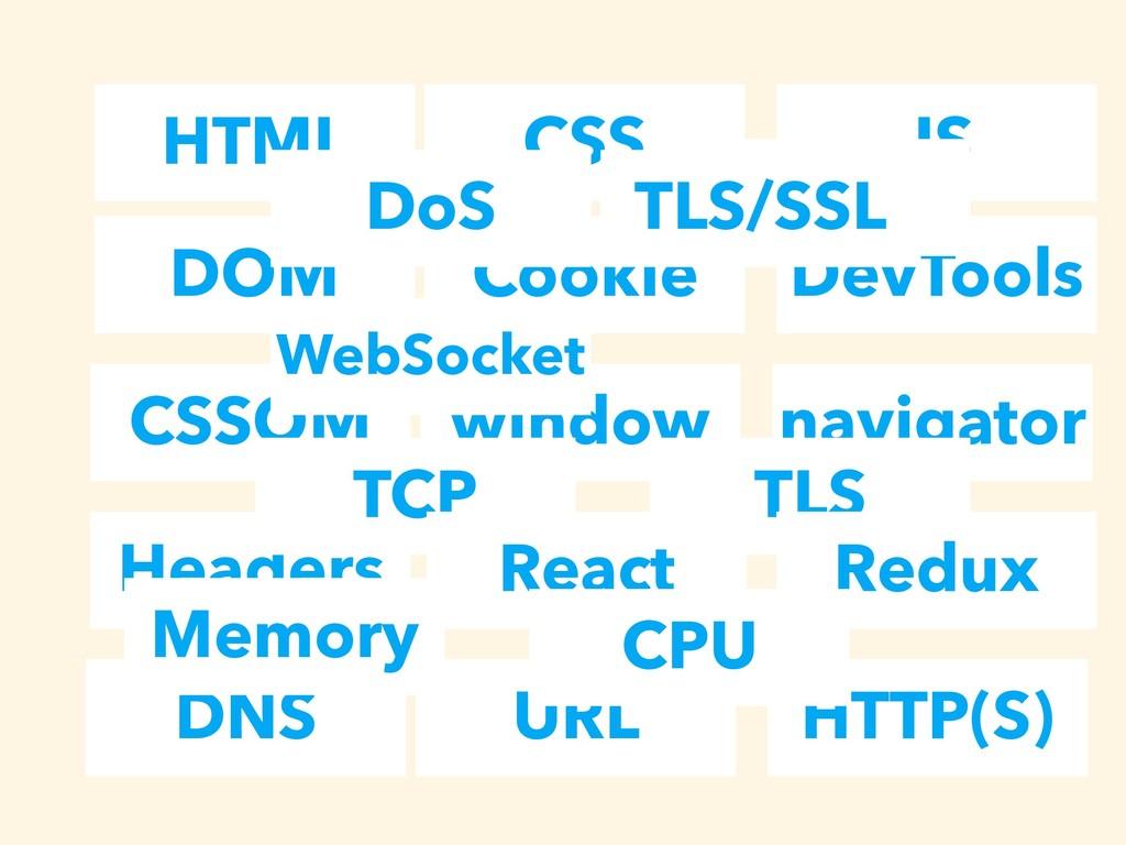 HTML CSS JS DOM Cookie DevTools CSSOM window na...