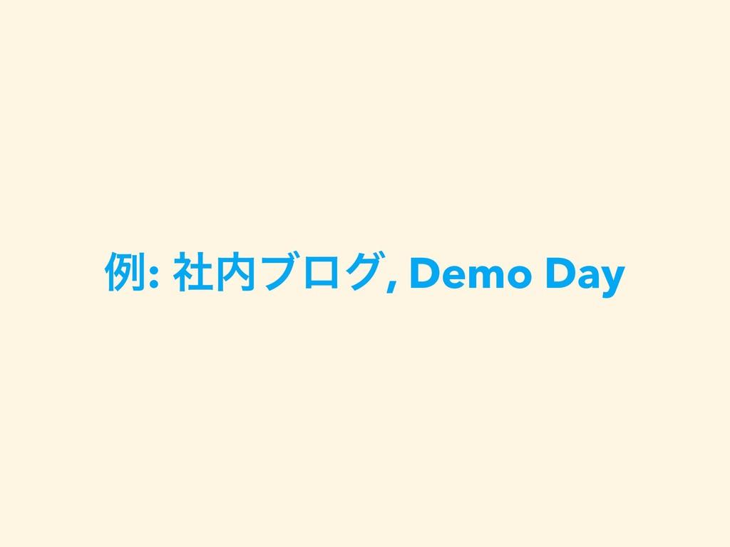ྫ: ࣾϒϩά, Demo Day