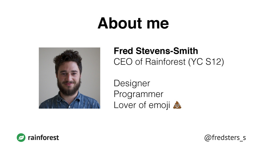 @fredsters_s rainforest About me Fred Stevens-S...