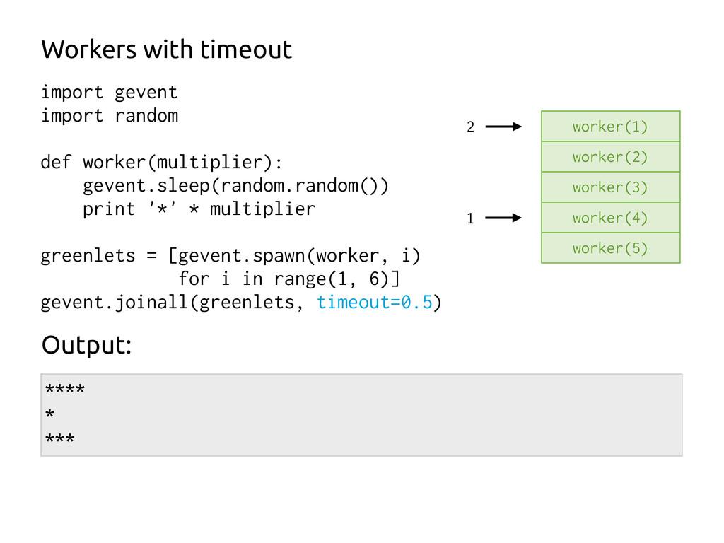 1 import gevent import random def worker(multip...