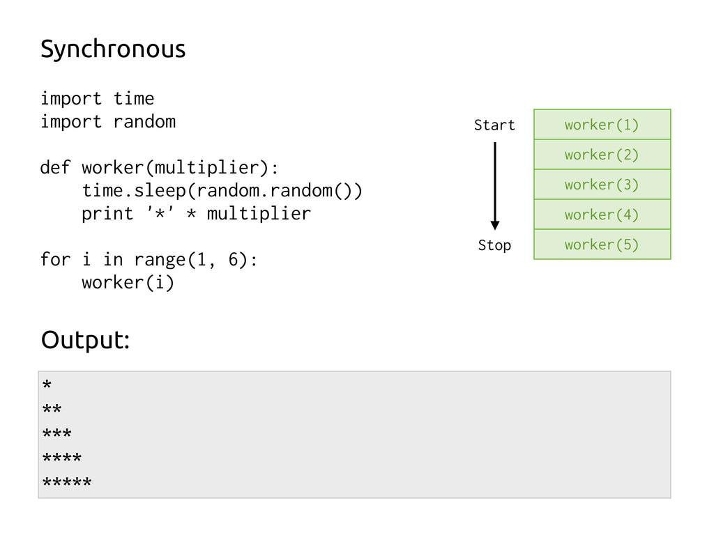 import time import random def worker(multiplier...