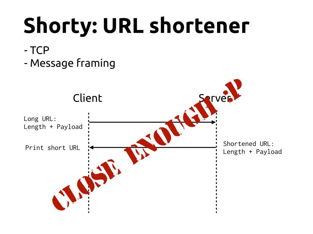 Shorty: URL shortener Client Server Long URL: L...