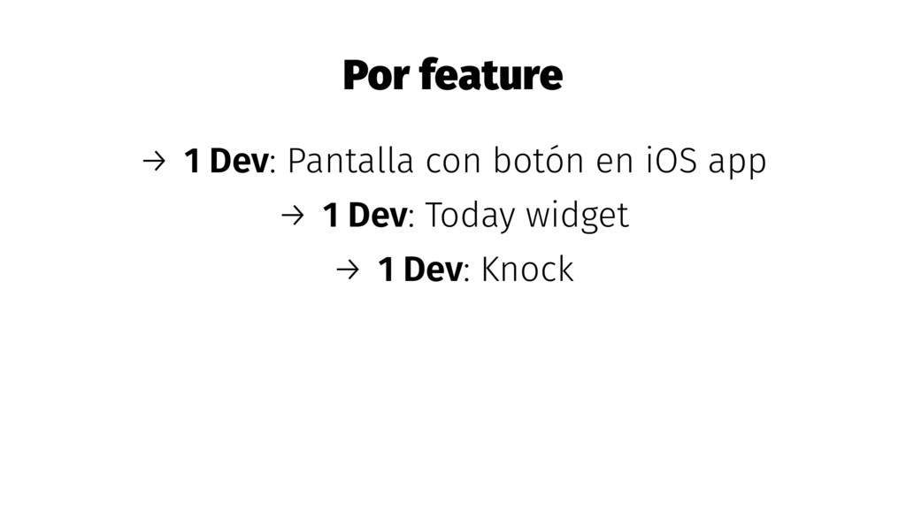 Por feature → 1 Dev: Pantalla con botón en iOS ...