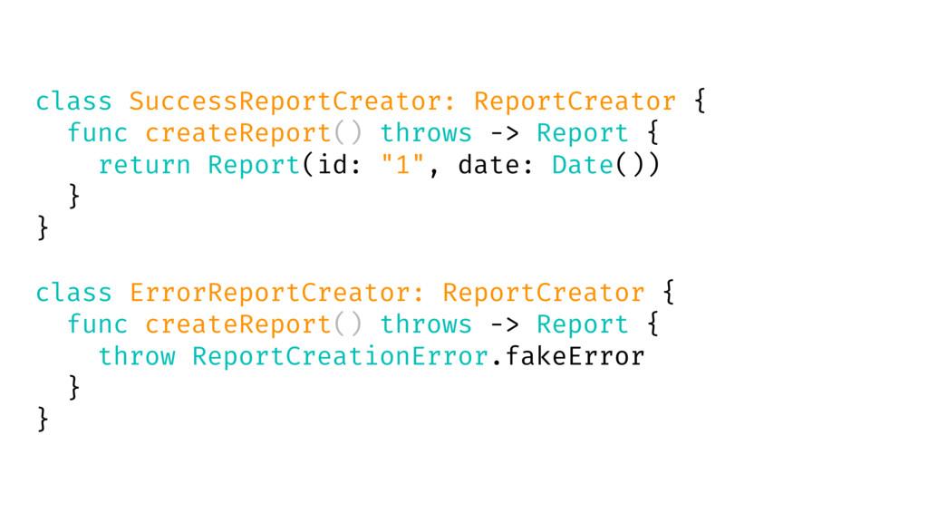 class SuccessReportCreator: ReportCreator { fun...