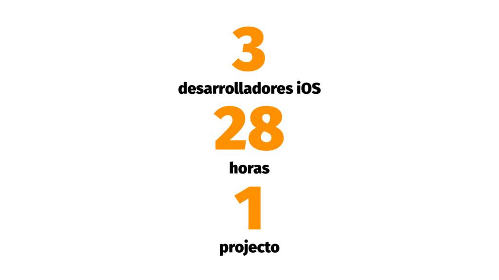 3 desarrolladores iOS 28 horas 1 projecto