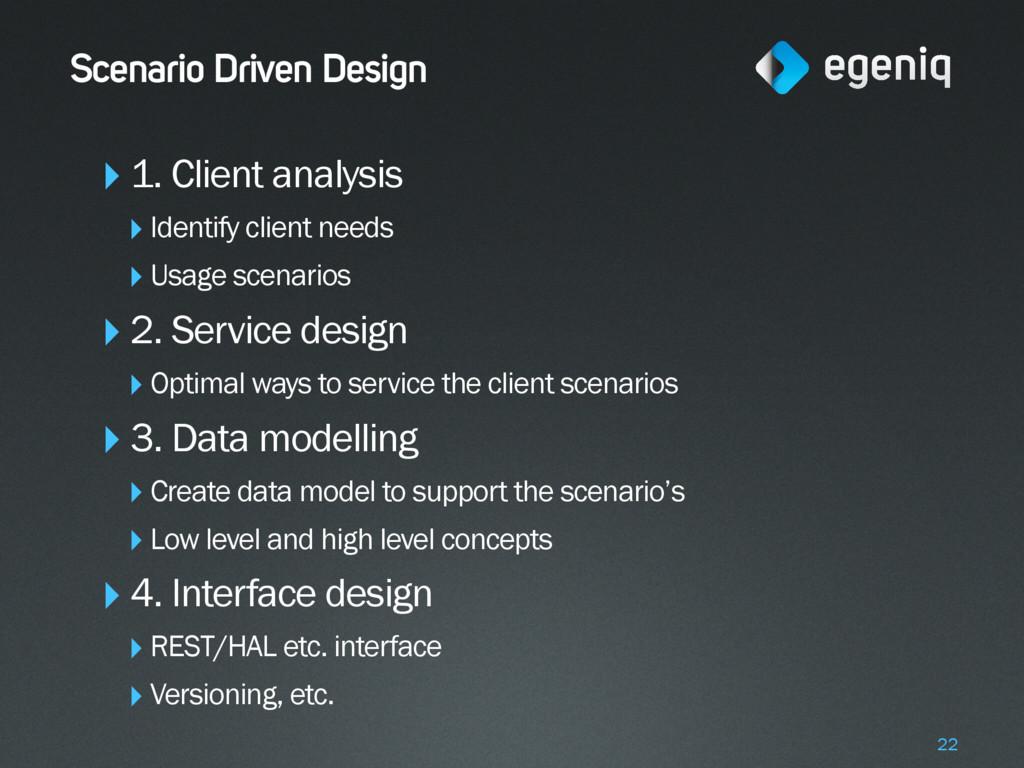 Scenario Driven Design ‣1. Client analysis ‣Ide...