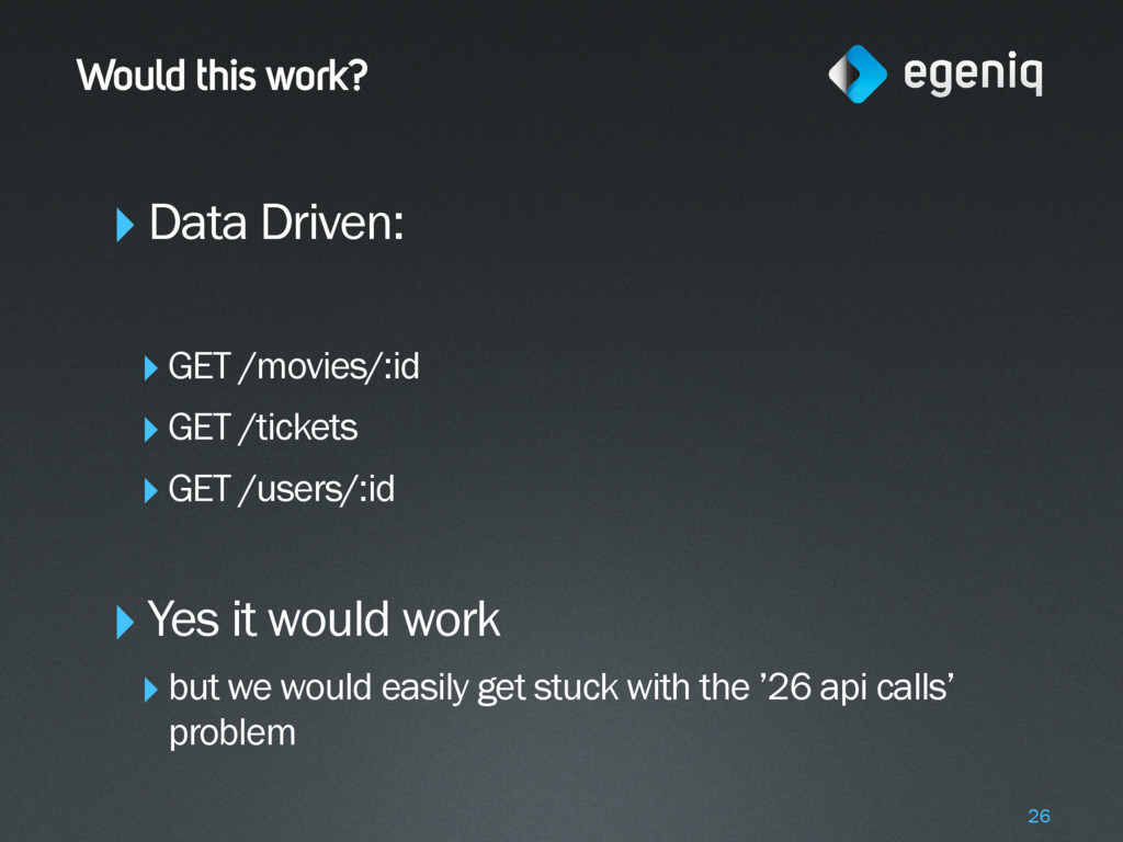 Would this work? ‣Data Driven: ‣GET /movies/:id...