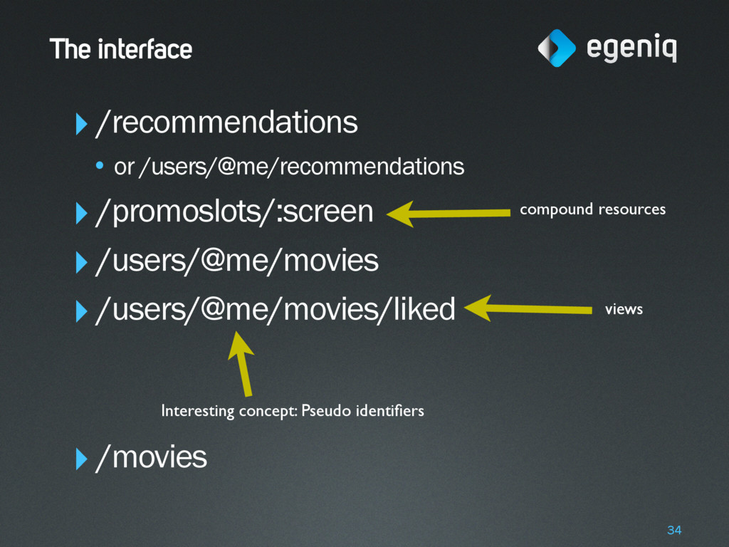 The interface ‣/recommendations • or /users/@me...