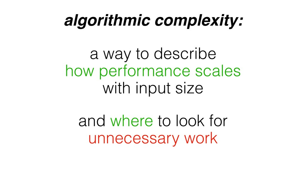 algorithmic complexity: and where to look for u...