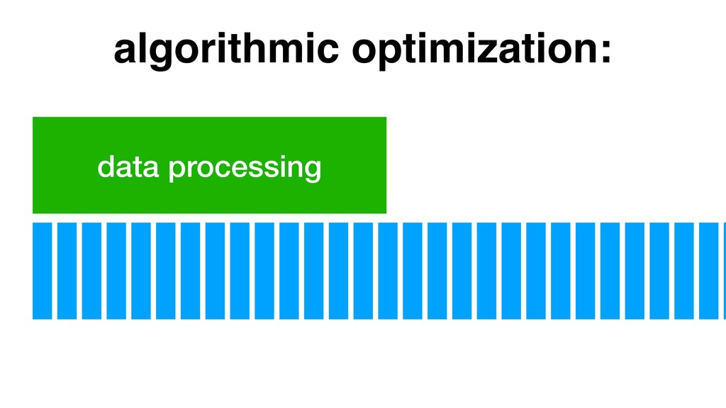 data processing algorithmic optimization:
