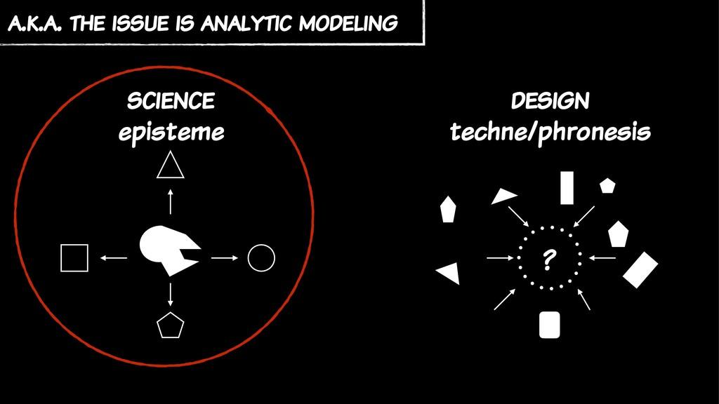 science episteme design techne/phronesis ? a.k....