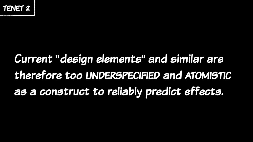 """Current """"design elements"""" and similar are there..."""