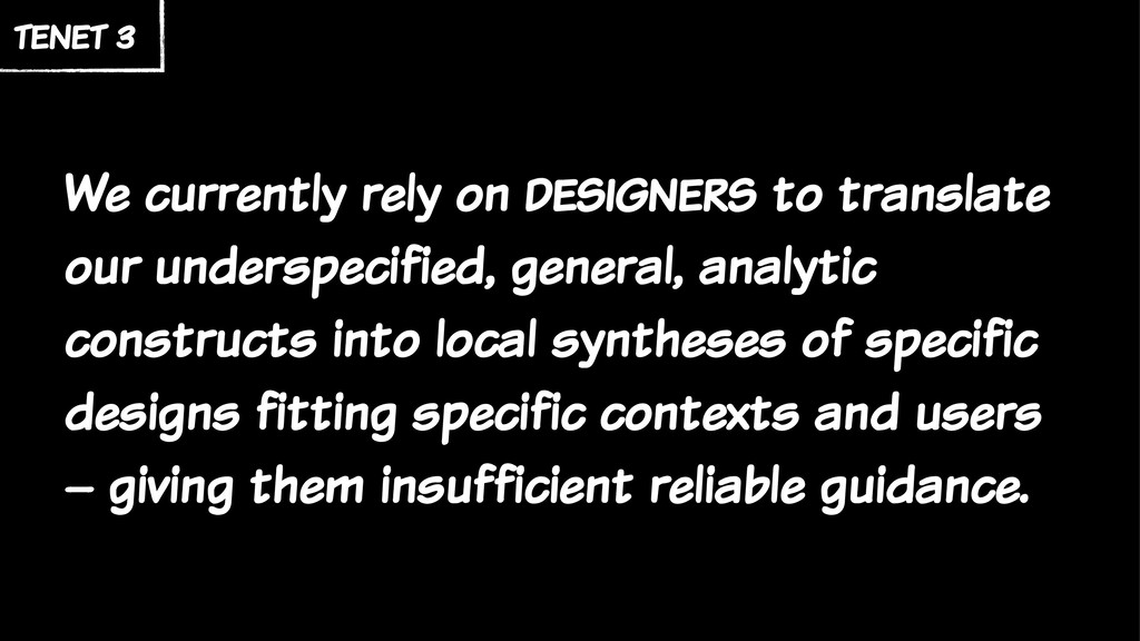 We currently rely on designers to translate our...
