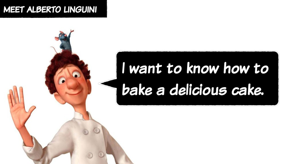 meet alberto linguini I want to know how to bak...