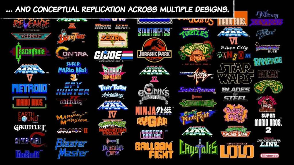 … and conceptual replication across multiple de...