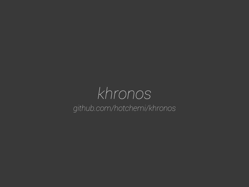 khronos github.com/hotchemi/khronos