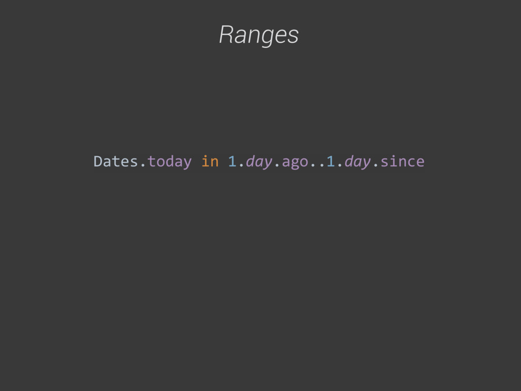 Dates.today in 1.day.ago..1.day.since Ran...
