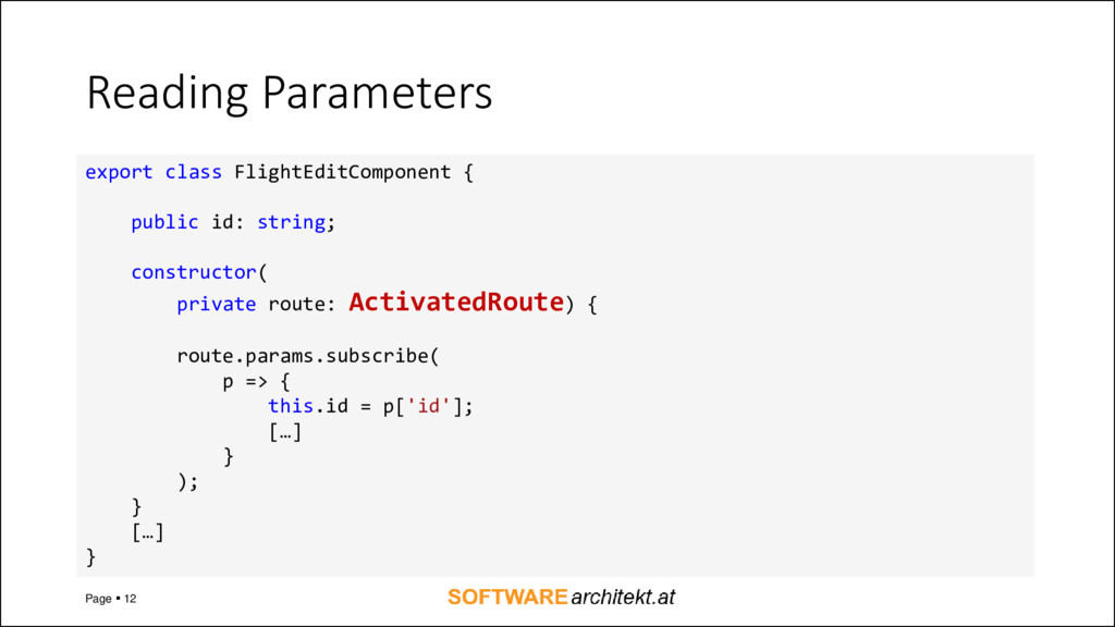 Reading Parameters Page ▪ 12 export class Fligh...