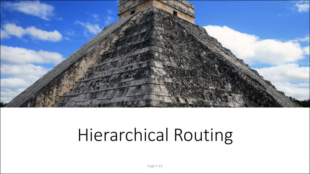 Hierarchical Routing Page ▪ 14