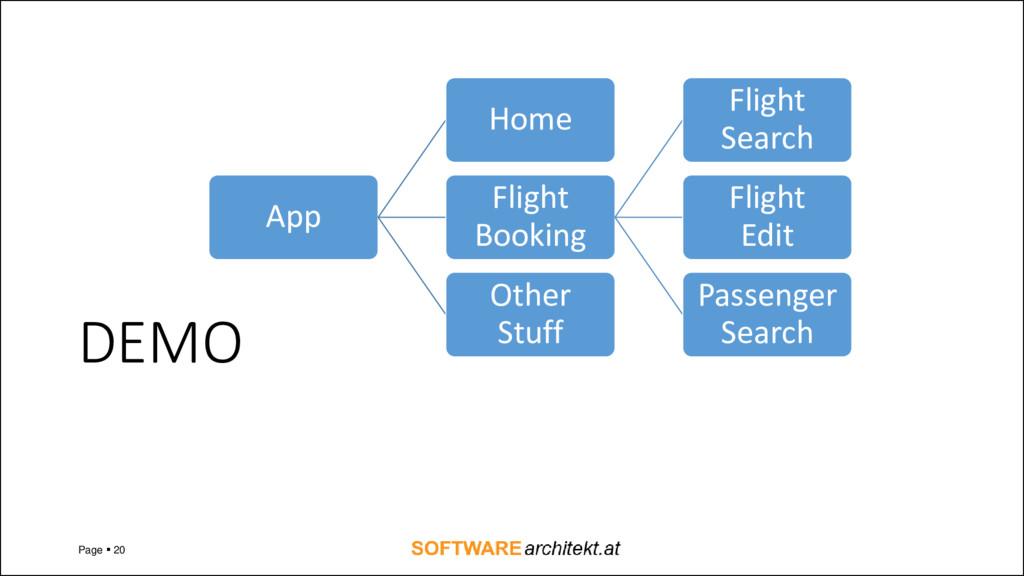 DEMO Page ▪ 20 App Home Flight Booking Flight S...