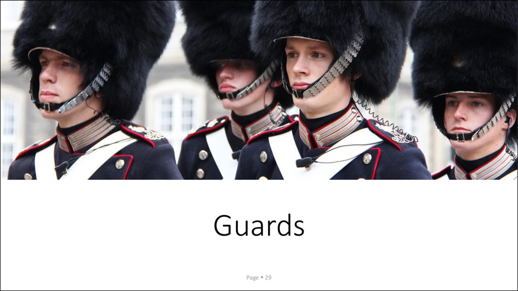 Guards Page ▪ 29