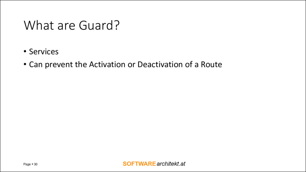 What are Guard? • Services • Can prevent the Ac...