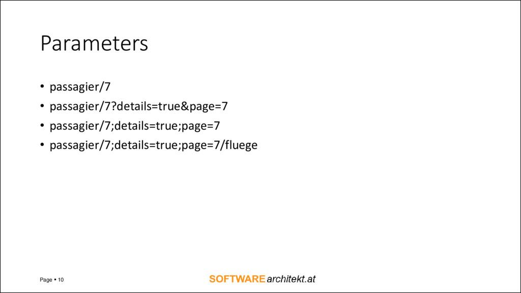 Parameters • passagier/7 • passagier/7?details=...