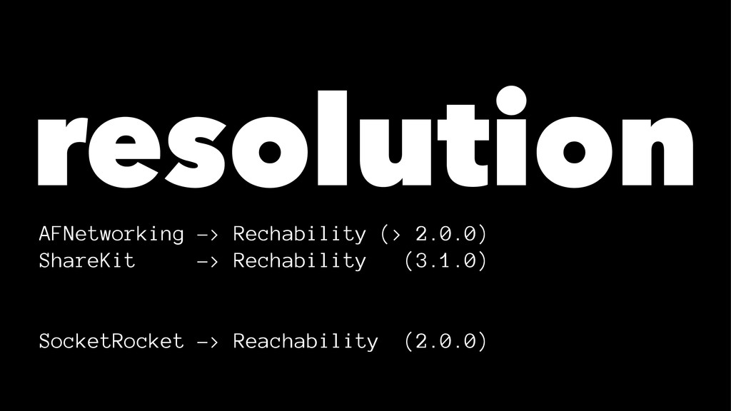 resolution AFNetworking -> Rechability (> 2.0.0...