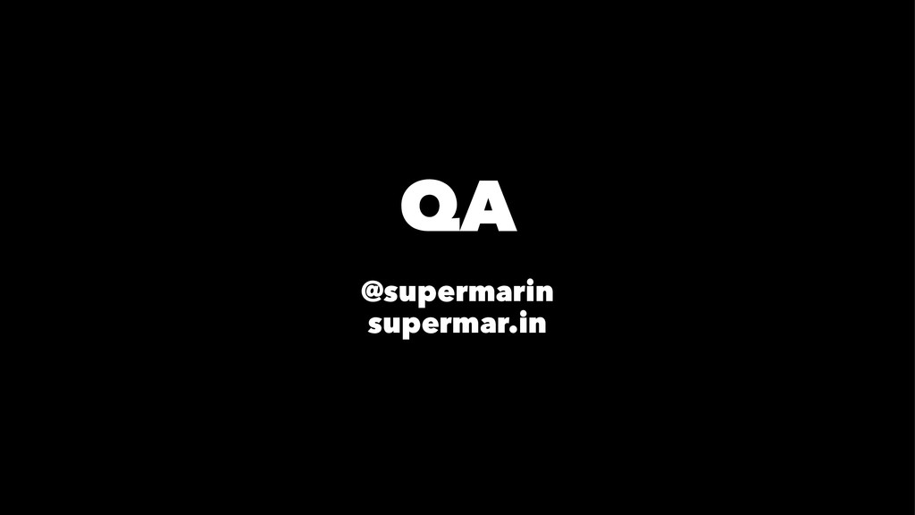 QA @supermarin supermar.in