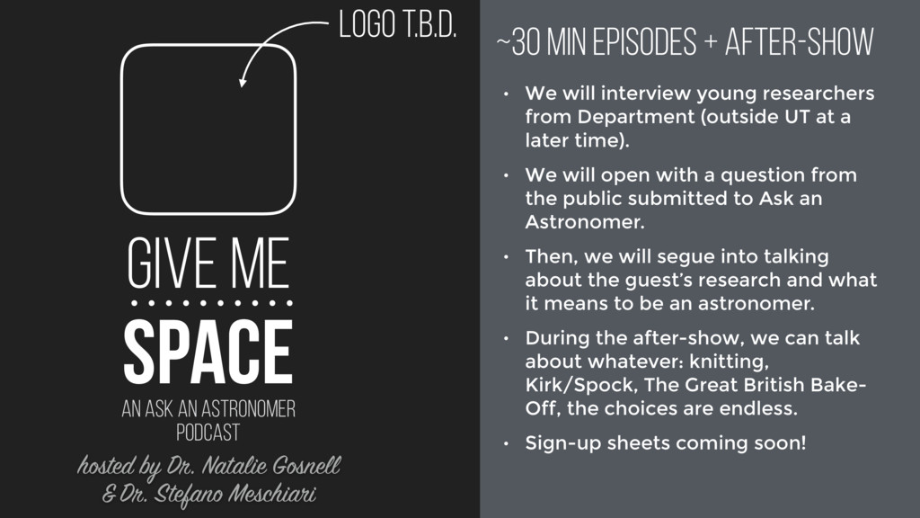 GIVE ME AN ASK AN ASTRONOMER PODCAST SPACE logo...
