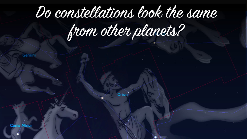 Do constellations look the same from other plan...