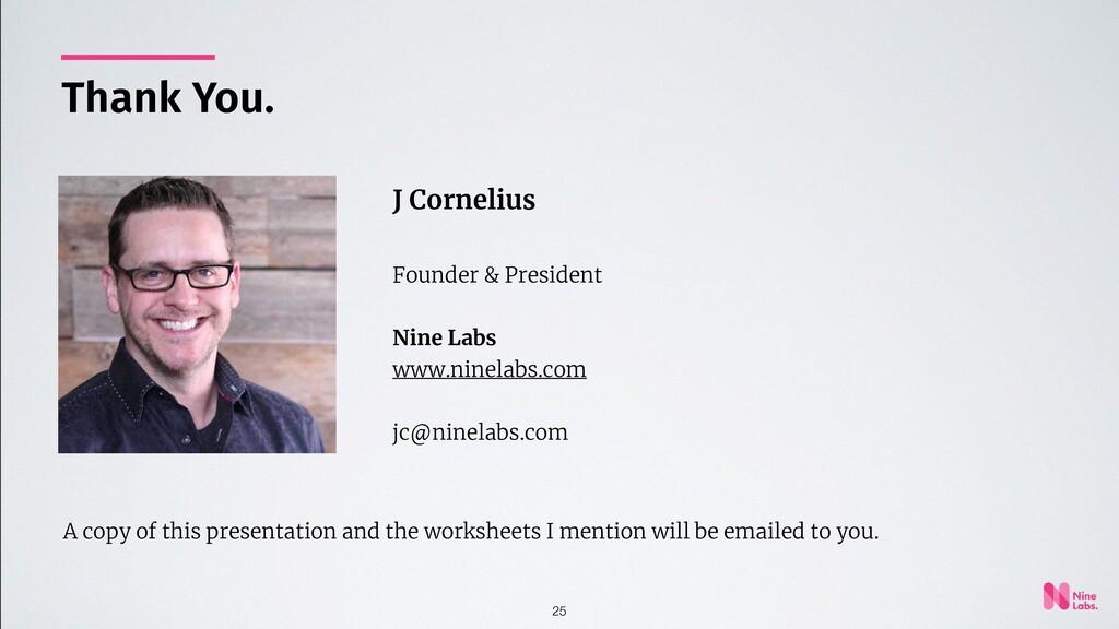 25 J Cornelius Founder & President Nine Labs ww...
