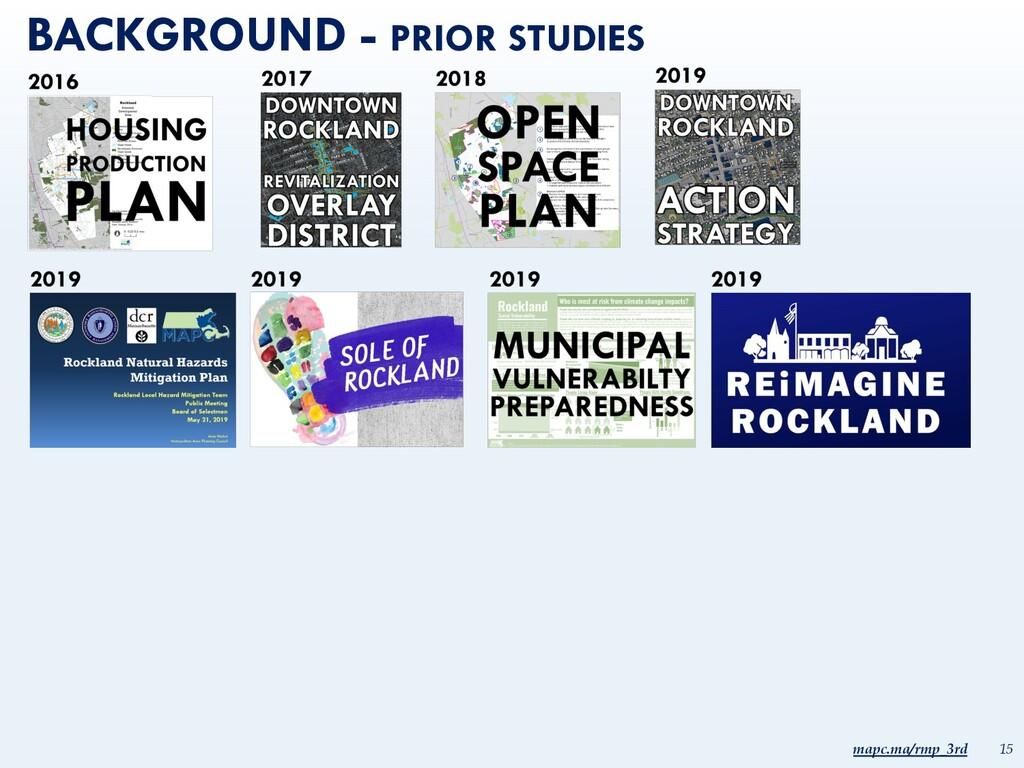 mapc.ma/rmp_3rd 15 BACKGROUND - PRIOR STUDIES