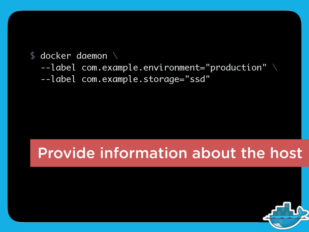 Provide information about the host $ docker dae...