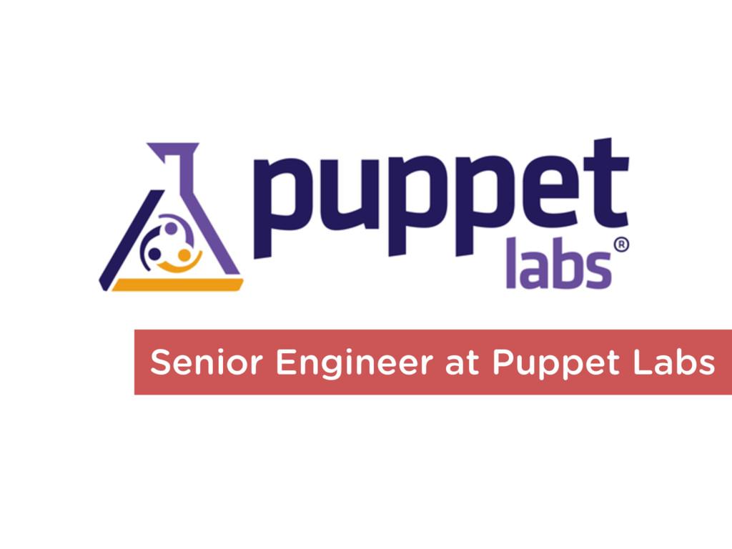 Senior Engineer at Puppet Labs