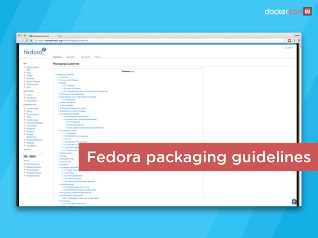 Fedora packaging guidelines