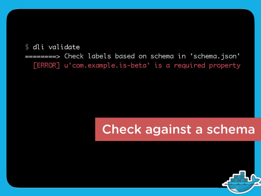 $ dli validate ========> Check labels based on ...
