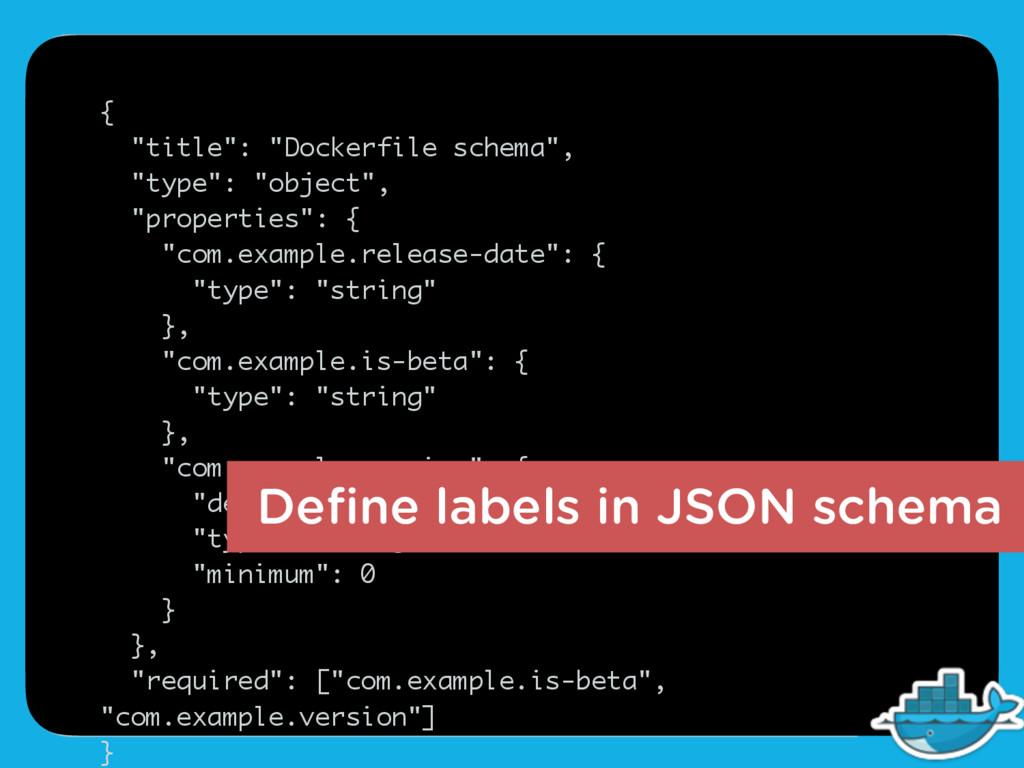 """{ """"title"""": """"Dockerfile schema"""", """"type"""": """"object..."""