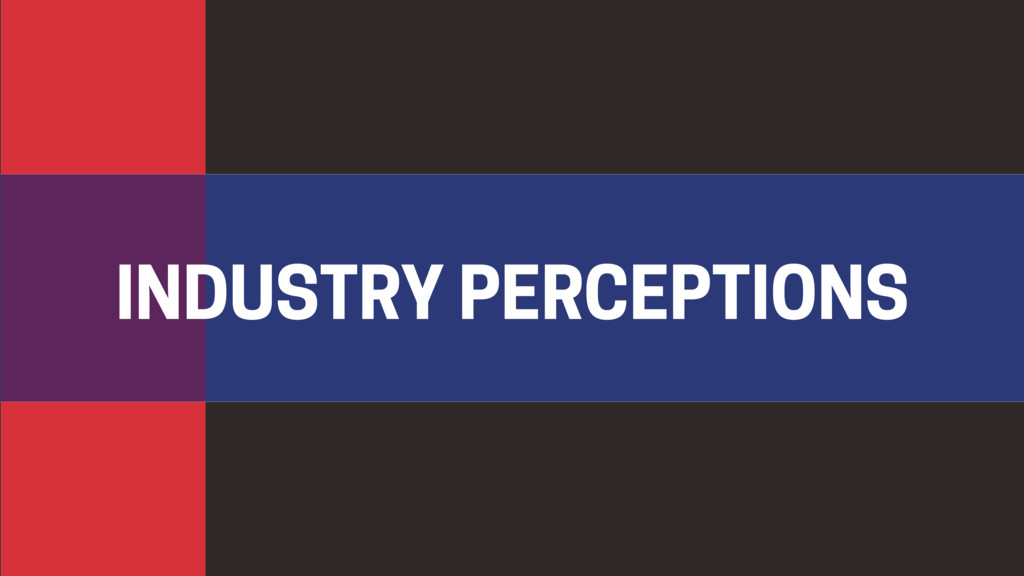 INDUSTRY PERCEPTIONS