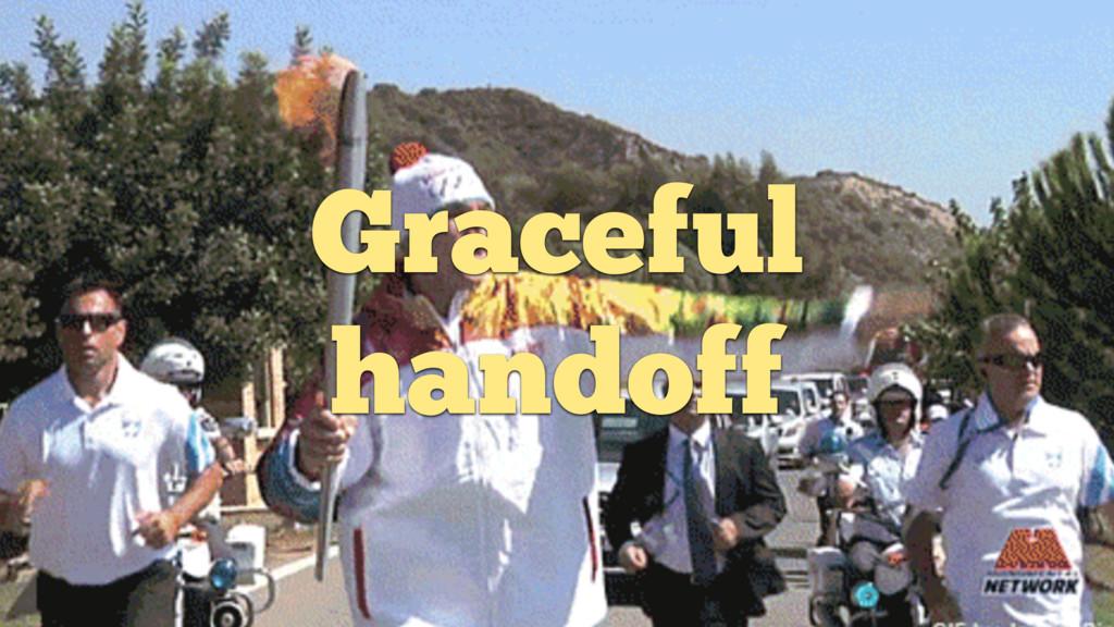 Graceful handoff