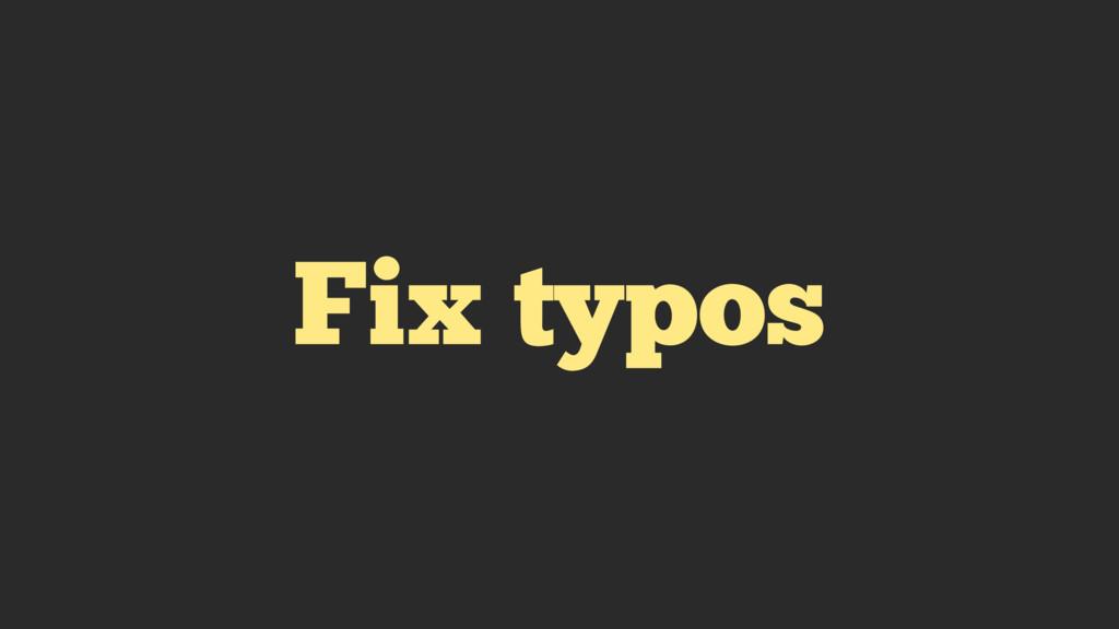 Fix typos