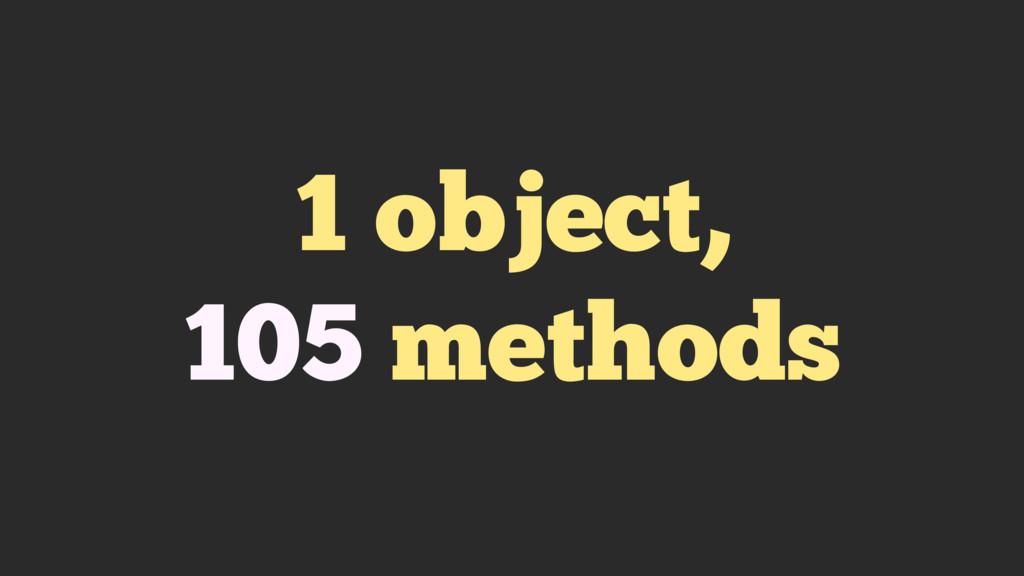 1 object, 105 methods