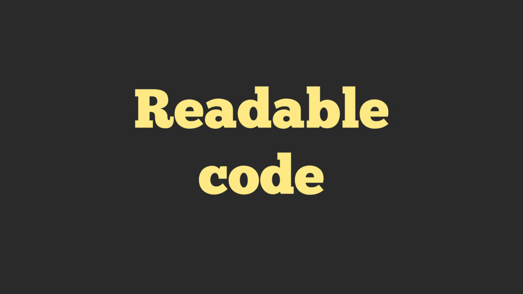 Readable code