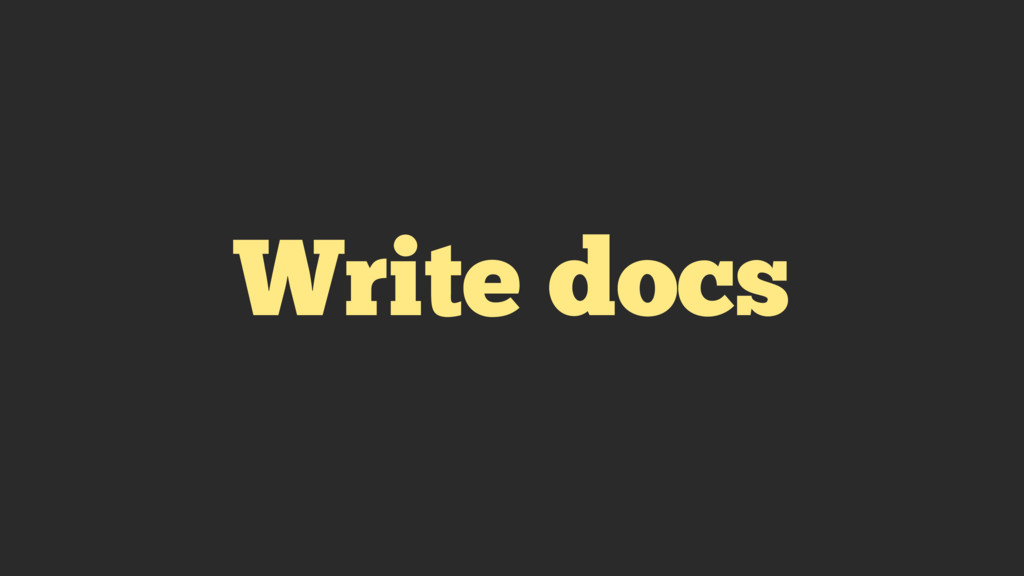 Write docs