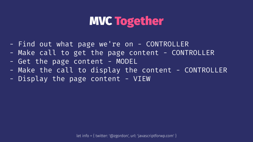 MVC Together - Find out what page we're on - CO...