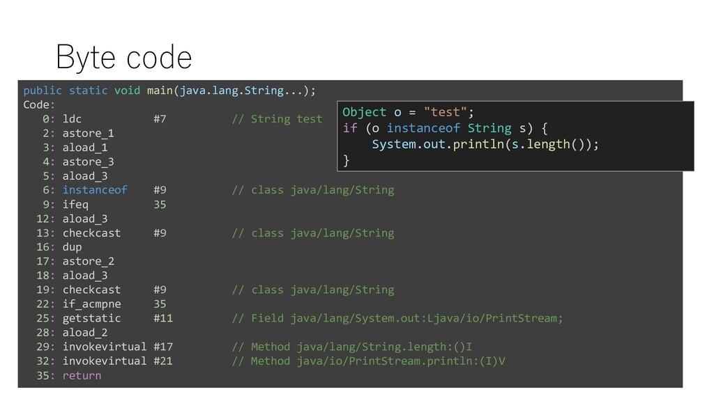 Byte code public static void main(java.lang.Str...