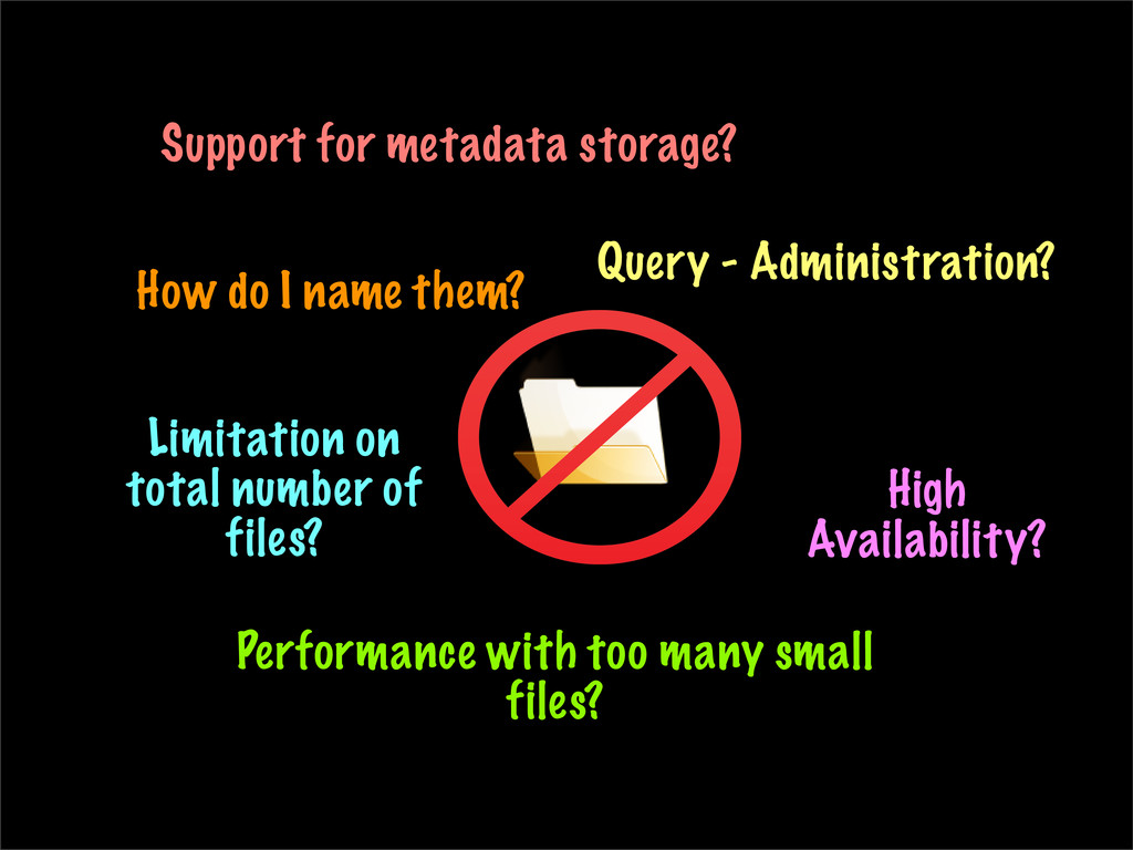 How do I name them? Support for metadata storag...